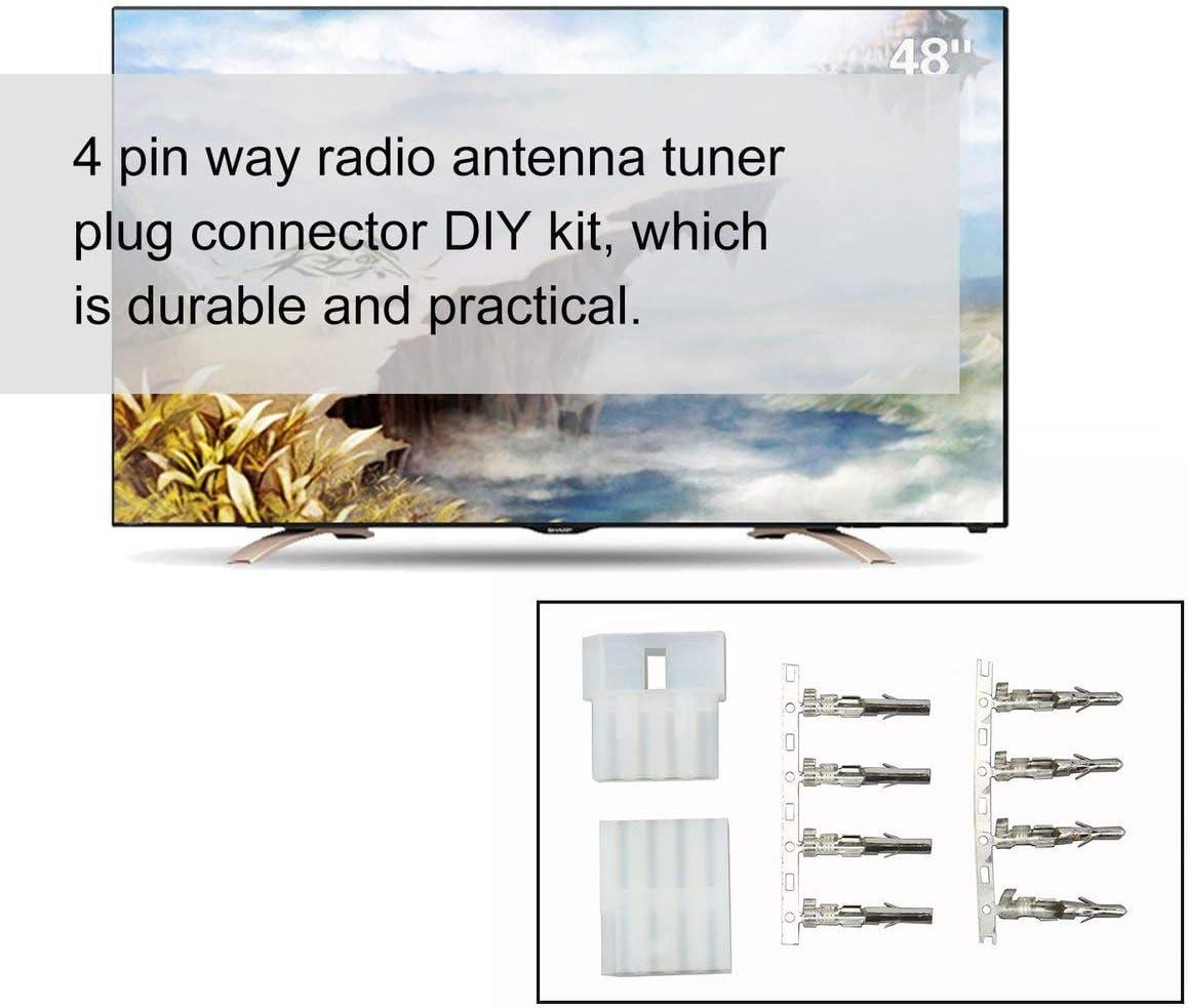 Blanco Icom At-120 4P Kit de Bricolaje de Conector de z/ócalo de sintonizador de Antena de 4 Pines nbvmngjhjlkjlUK Conector de sintonizador de Antena de Radio de 4 Pines