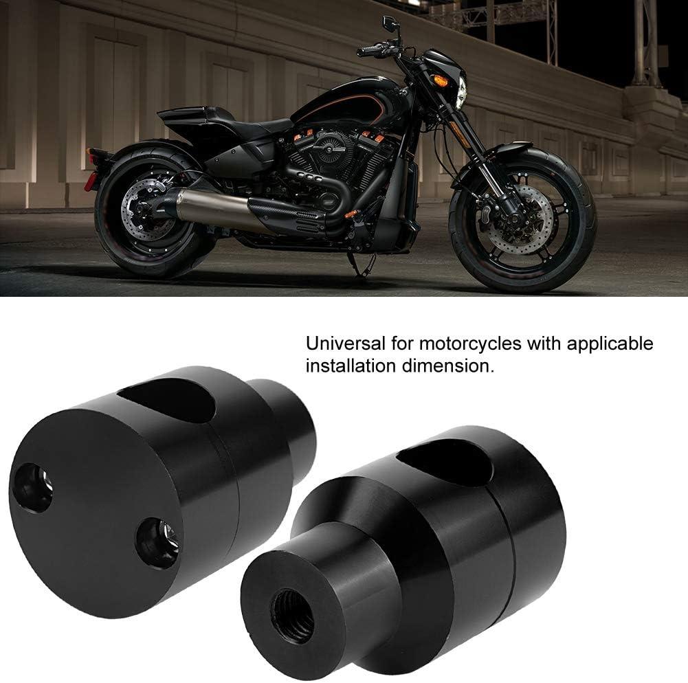Elevador de manillar Elevador de par Elevador de manillar Aleaci/ón de aluminio de 22 mm para modificaci/ón de motocicletas Negro