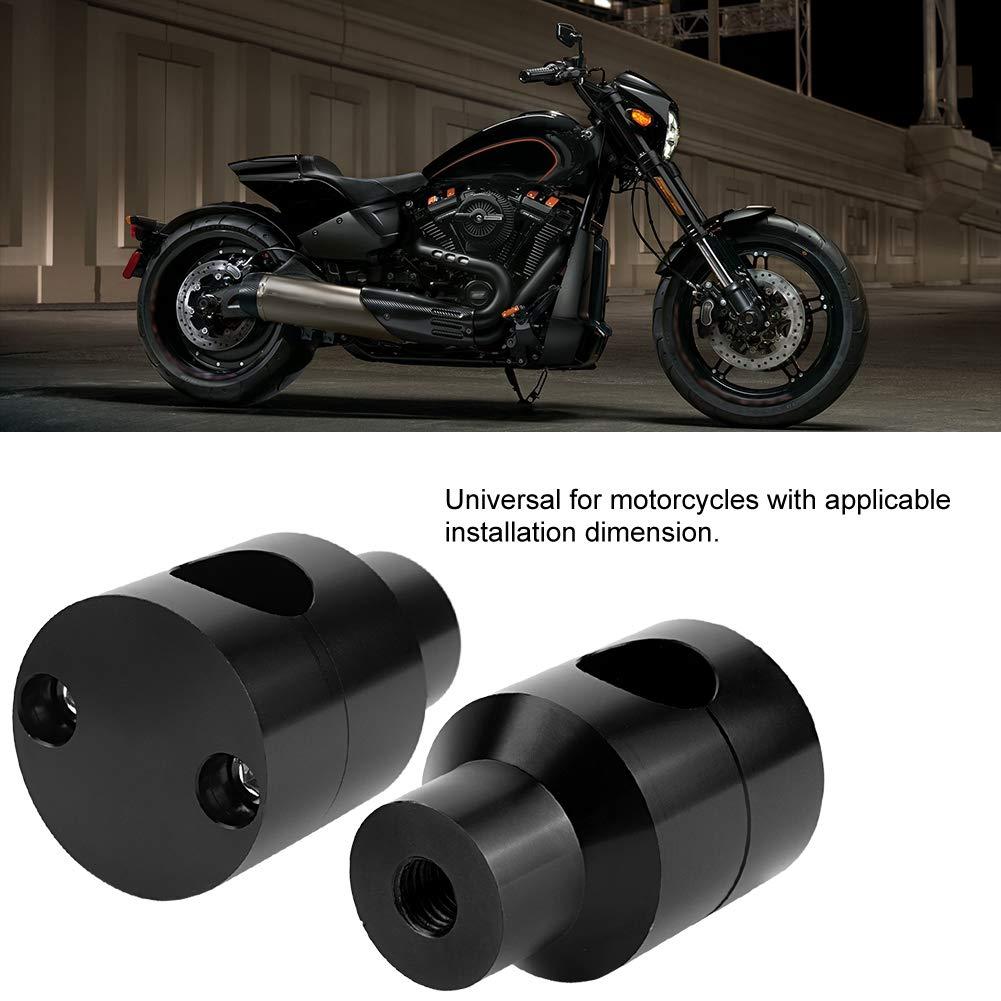 Nero 1Pair Lift Manubrio Riser 22mm Lega di alluminio per modifica moto