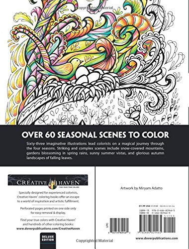 Amazon Creative Haven Deluxe Edition Four Seasons Coloring Book Adult 9780486809465 Miryam Adatto Books