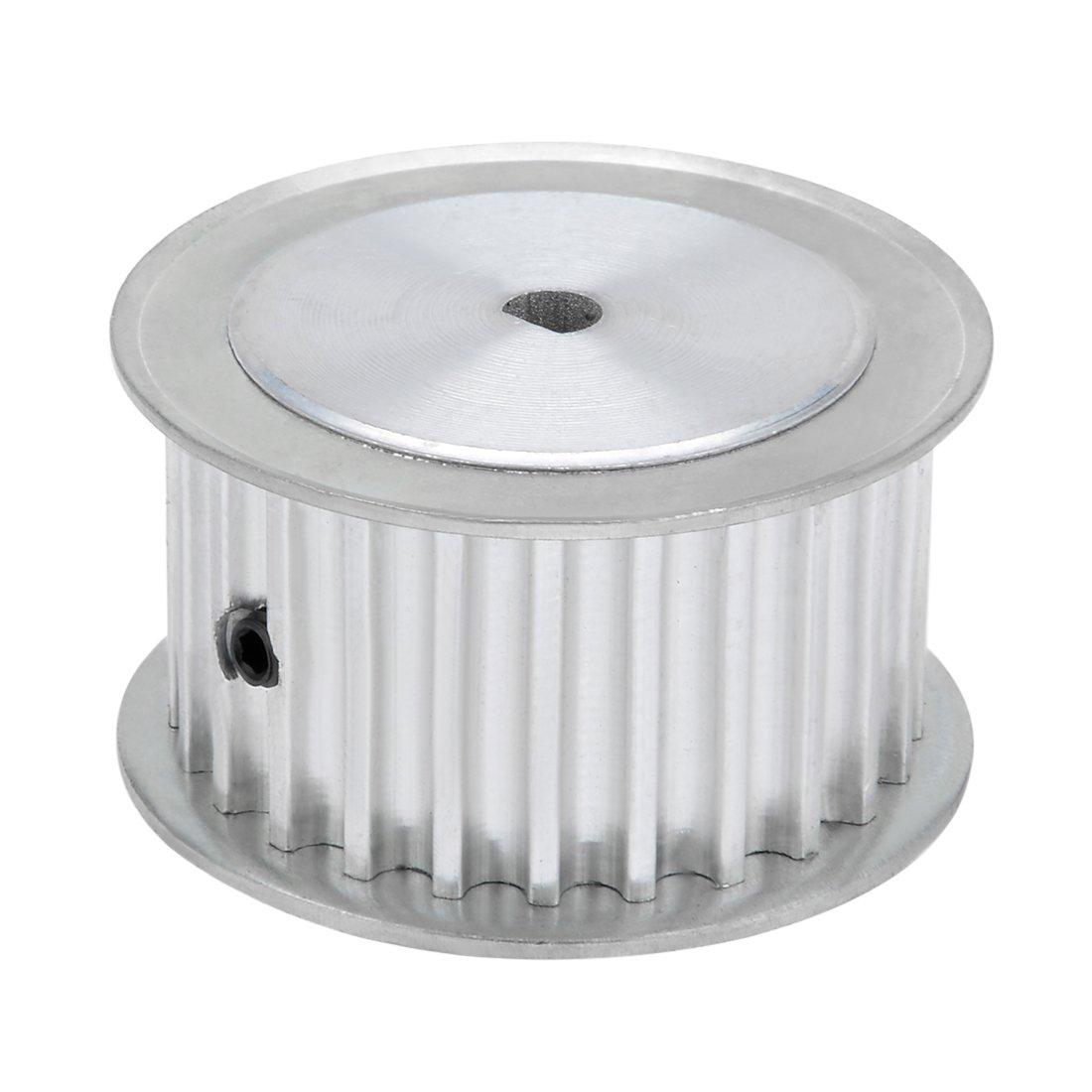 uxcell Aluminum 25 Teeth 5mmx4.5mm D Shape Bore 21mm Belt Timing Idler Pulley Wheel