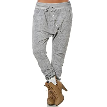 Amazon.com: Pantalones Harem para mujer, talla grande, con ...