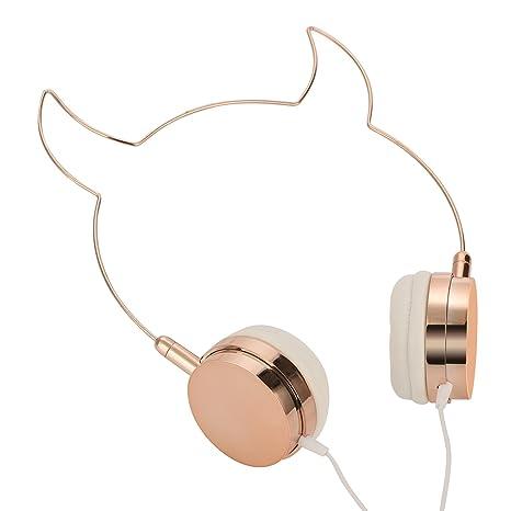 somotor Draht auf Ohr Kopfhörer, Rose Gold Teufel Ox Ohr: Amazon.de ...