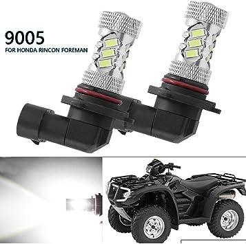 2X 100W 9005 LED Headlight Bulb For Honda Foreman 450 TRX450 Foreman 500 TRX500