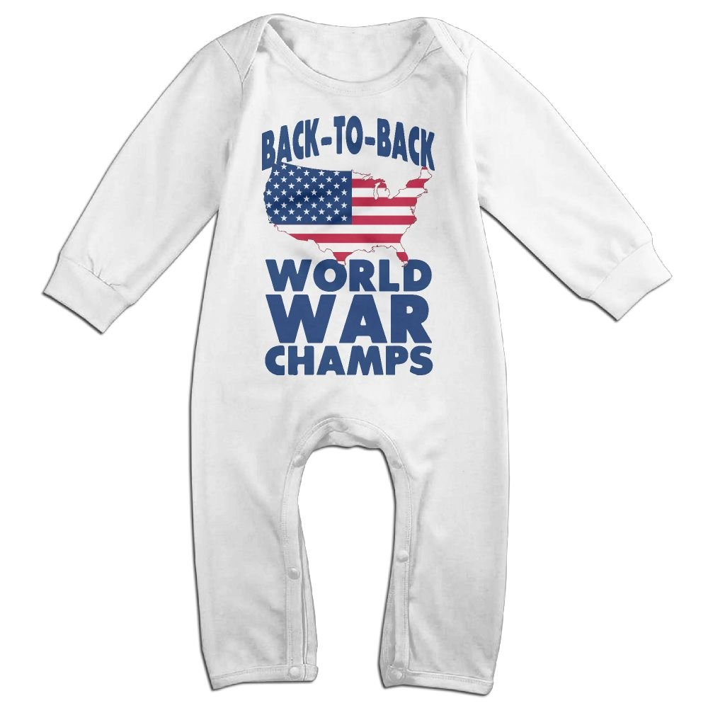442d9d1ab92 Amazon.com  Newborn Kids Jumpsuit Back to Back World War Champs Kid Pajamas   Clothing