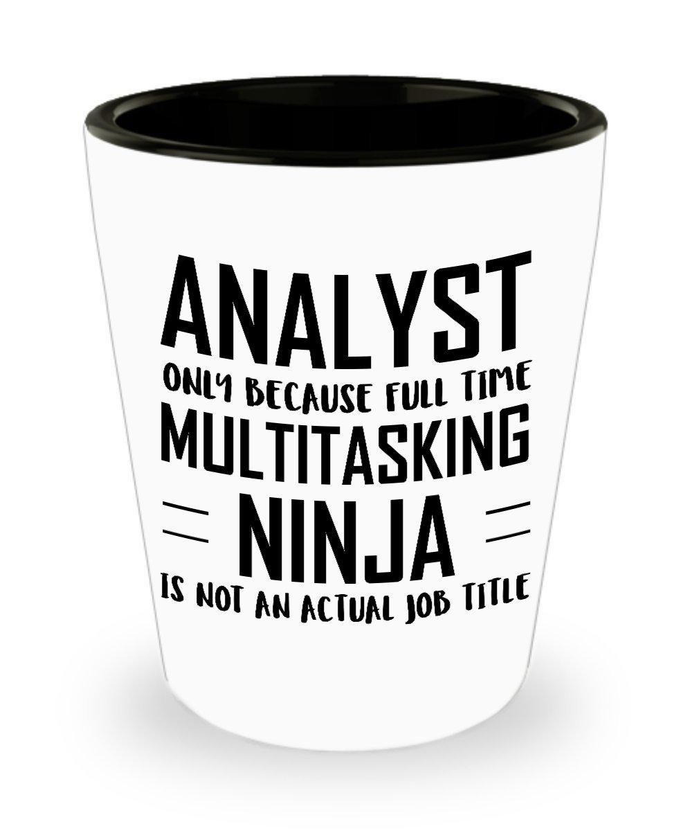 Amazon.com | Analyst Shot Glass- Full Time Multitasking ...