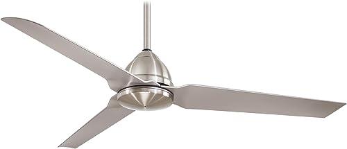 Minka Aire Java 54 in. Indoor/Outdoor Brushed Nickel Wet Ceiling Fan