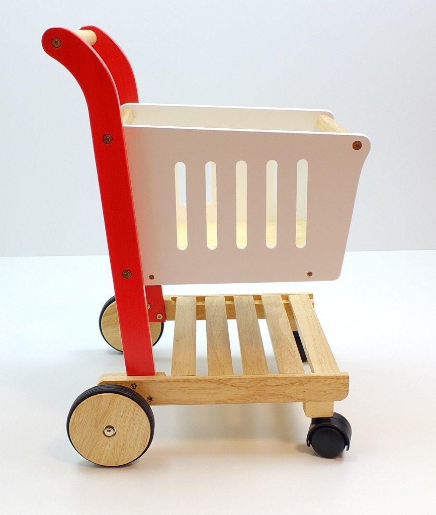 Estia Einkaufswagen für den Kaufladen - Kinder Einkaufswagen Holz