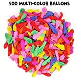 500pcs Balloon, YuCool Balloons for Fight Games Party Holiday - Kids Adults (Multi-Color)