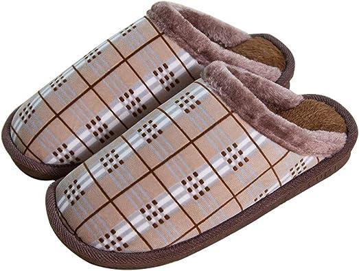 Algodón Zapatilla Zapatillas Interior Zapatillas De Casa Pantuflas ...