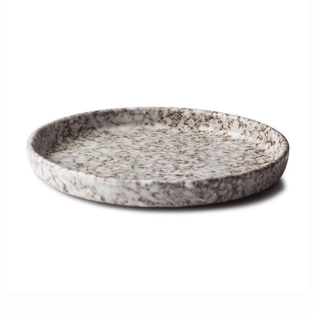 He Xiang Ya Shop Dinner Plate Fruit Salad Plate Household Ceramic Steak Plate Flat Dinner Plate 8''