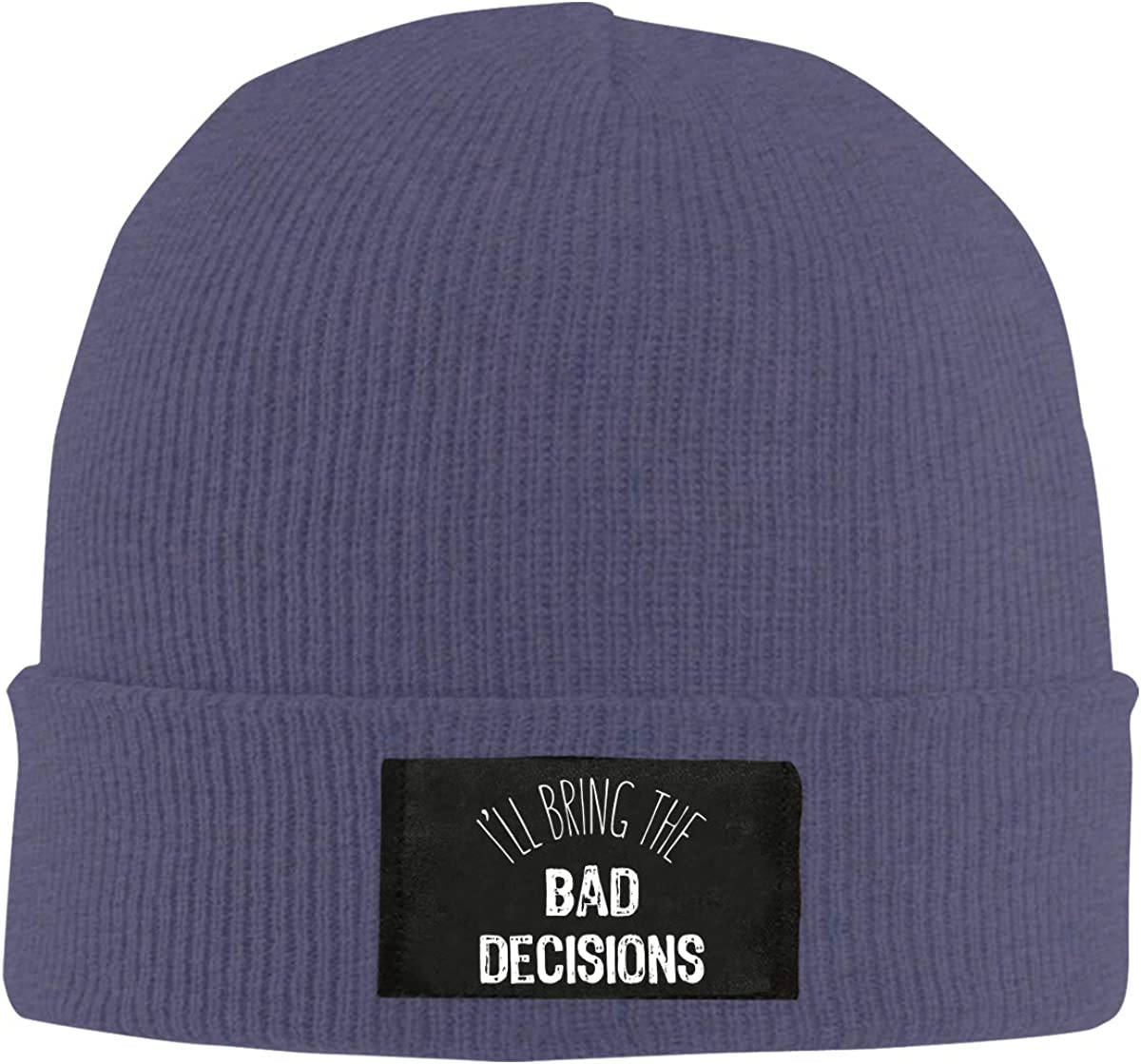 BF5Y6z/&MA Mens and Womens Ill Bring Bad Decisions Knit Cap 100/% Acrylic Warm Skiing Cap