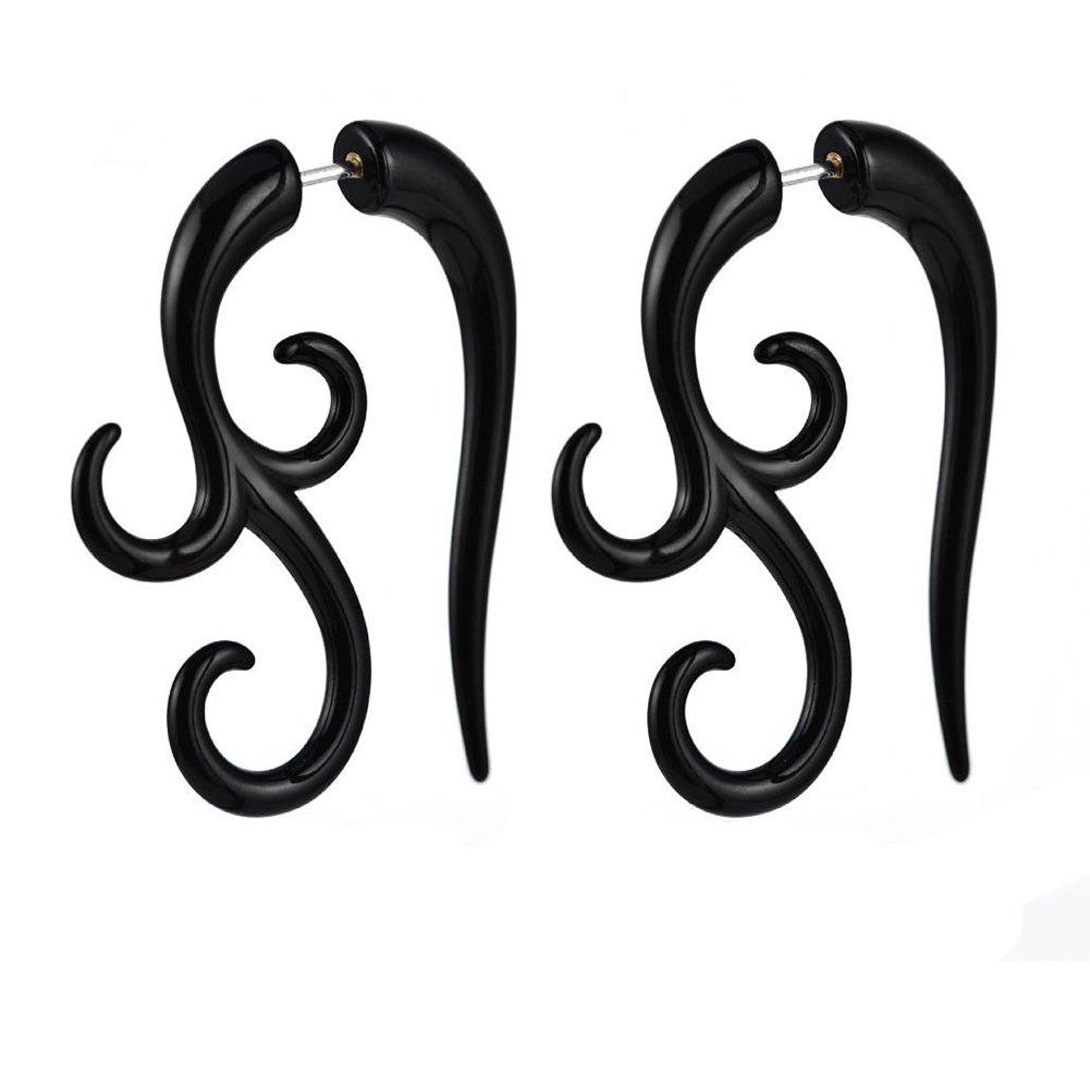 Skyeye 1paire Mode Boucles d'oreilles Spirale Split Boucles d'oreilles Acrylique Clous d'oreille pour femmes pour hommes