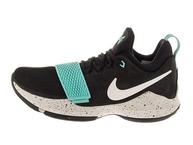 quality design 3e2eb f2084 Nike Men's PG 1 Black/Aqua Basketball Shoes (10.5)