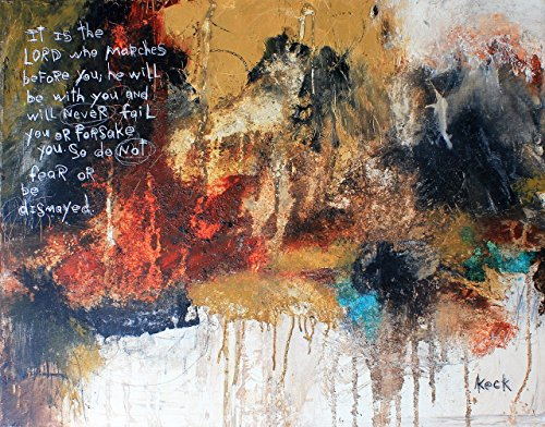 SCRIPTURE ART. Abstract Bible Verse Painting. Religious Abstract Painting with scripture.