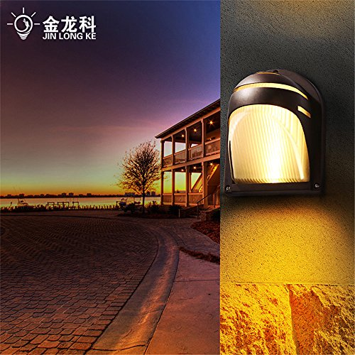 DengWu Wall Sconce Espresso Brown Outdoor Wall light waterproof corner road on the aisle chalet exterior lighting lamps (Stainless Chalet)