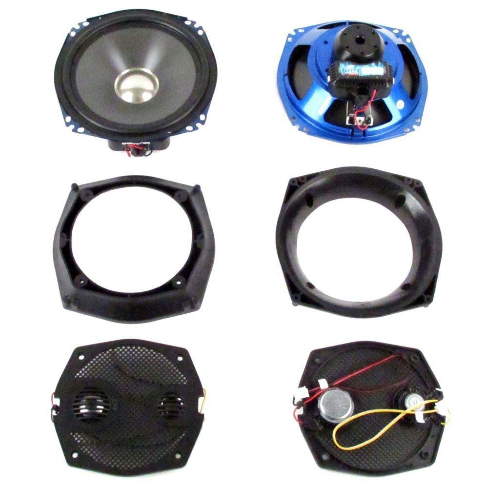 Jm Rokker Xxr 725 Front Speakers For 1998 2013 Harley Davidson Pbr 300x4 4 Ohm Wiring Diagram Electra Glide