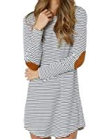 Outtop Casual Striped Long Sleeve Mini Dress for Women Girls