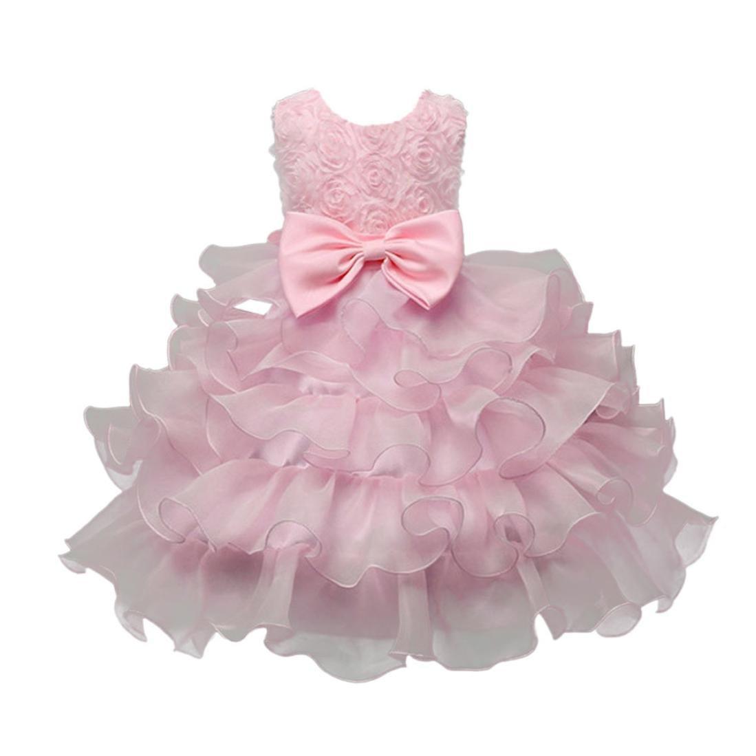 Toddler M/ädchen Kleid Kurzarm Blumen Bowknot Party Prinzessin Dress Casual T-Shirt Kleid Fr/ühlings Herbst Cocktailkleid Sommerkleider HUIHUI Kleid M/ädchen