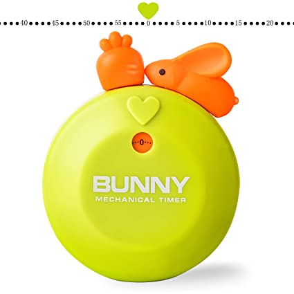 Mechanical timer without battery charge cartoon cute kitchen timer, magnet  design, 1-60 minute timer, mini size -2 7in