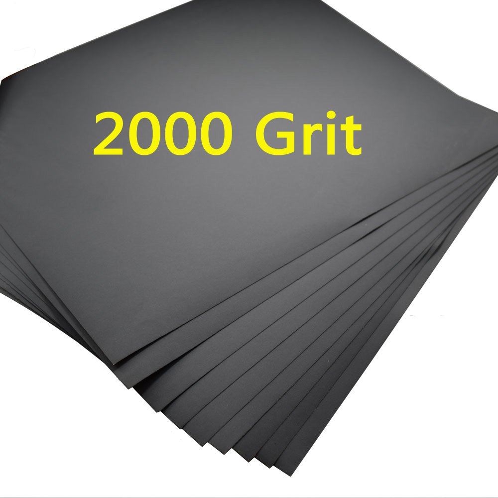 """5 Sheets Sandpaper 2000 Grit Waterproof Paper 9""""x11"""" Wet/dry Silicon Carbide"""