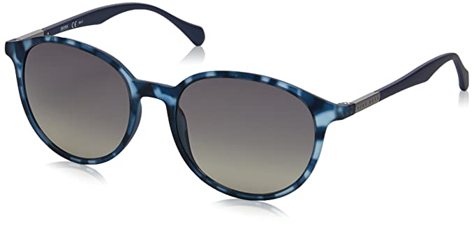 7f195837d5b9 Image Unavailable. Image not available for. Color  Hugo Boss BOSS 0822 S  YX2DX (Transparent Blue - Havana Blue with Grey Gradient