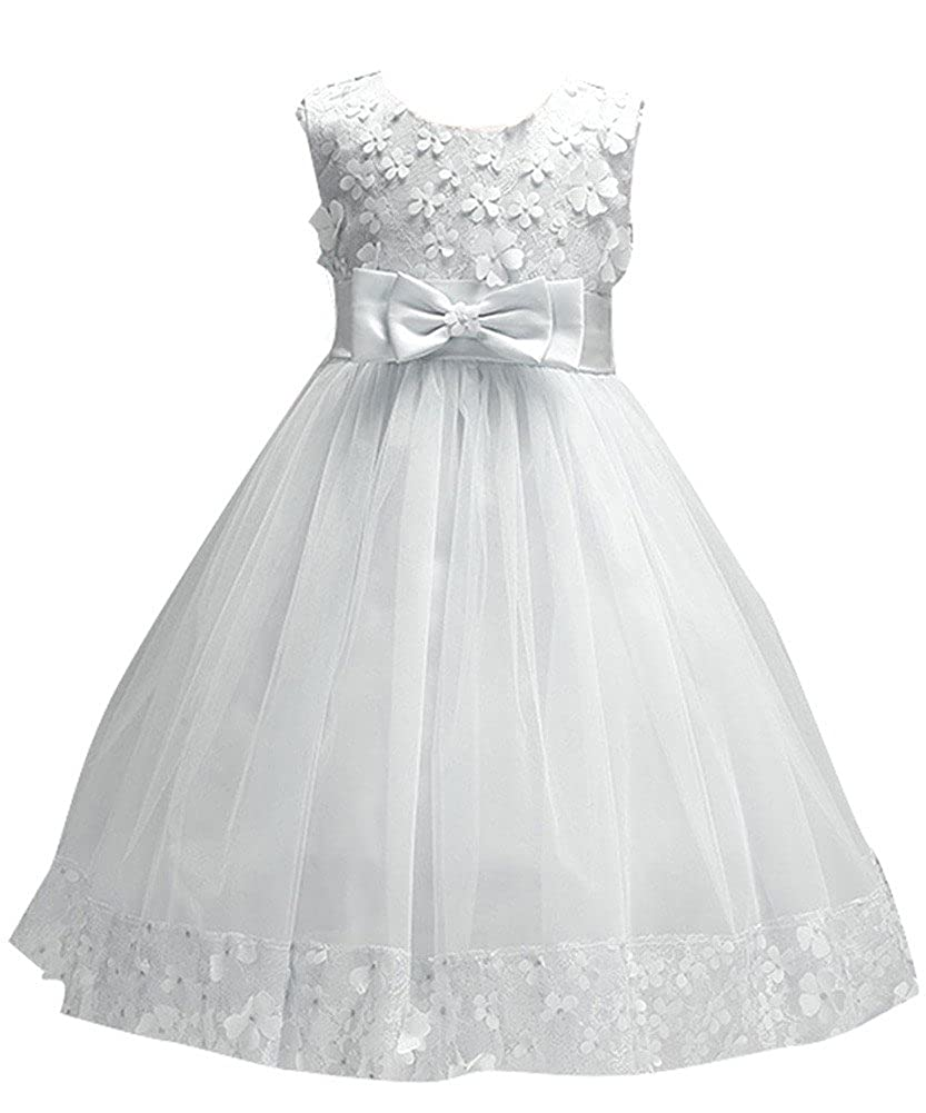 WEONEDREAM Flower Girl Pageant Dress Girls Elegant Lace Tulle Baptism Wedding Princess Gown Party Dresses