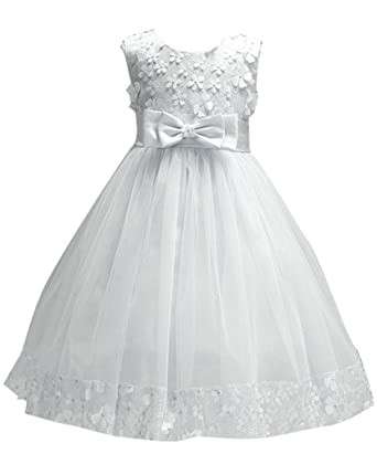 Big Girl First Communion Lace Dress for Toddler Pageant Baby Sleeveless  Flower Girl Dress Christmas Ball a9e83b1de44a