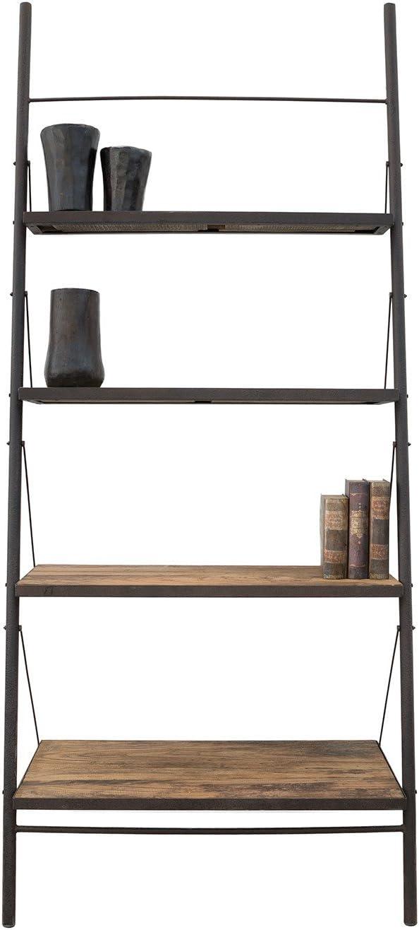 JAVA COLONIAL Librería Escalera Loft Ancha. Estructura en Metal y baldas de Madera reciclada de Olmo. Medidas: 100x50x230 cm.: Amazon.es: Hogar