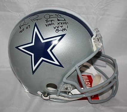 0b3006e035b Amazon.com: Michael Irvin Autographed F/S ProLine Dallas Cowboys Helmet w/  2 Insc Blk - JSA W Auth: Sports Collectibles