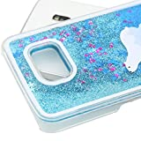 Galaxy S7 Case Samsung Galaxy S7 Case for Girls EMAXELER 3D Creative Design Angel Girl Flowing Liquid Floating Bling Shiny Liquid PC Hard Case for Samsung Galaxy S7 Blue Polar Bear