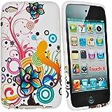 Accessory Master Housse en silicone pour Apple iPod touch 4 Multi fleur