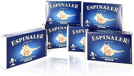 PACK CONSERVAS DE CARACOLES DE MAR ESPINALER OL-120 x6 LATAS