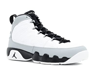 new style d49c7 e8b58 Nike Boys Air Jordan 9 Retro BG Barons White Black-Wolf Grey Leather  Basketball