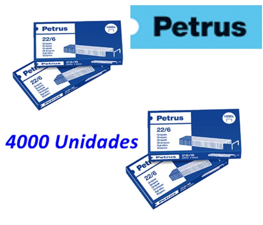 Petrus Lot de 4000agrafes cuivrées 22/6 Petrs