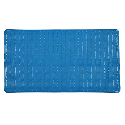 US Non Slip Bath Mat Massage Bathroom Shower Anti-Bacterial w// Suction Cups