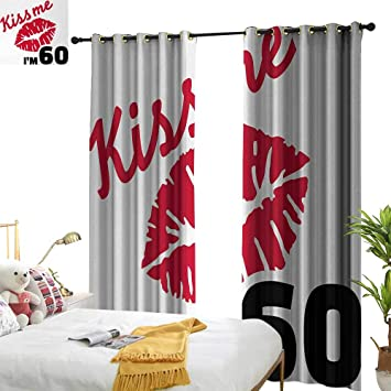 Amazon.com: Anyangeight 90 cumpleaños, cortinas para sala de ...