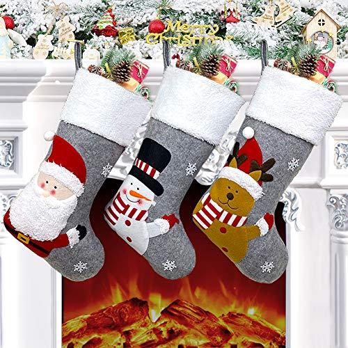 Christmas Stocking Set of 3, 18
