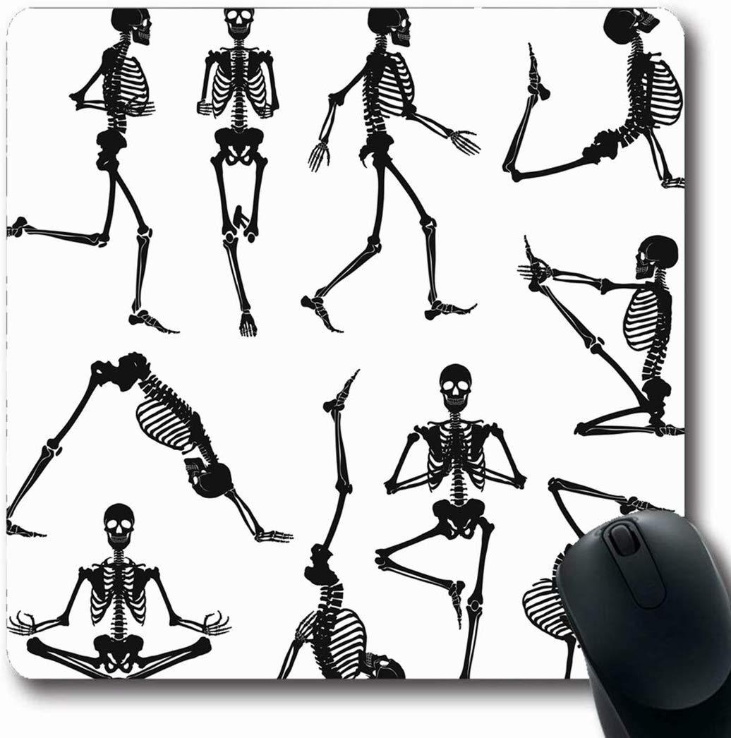 Luancrop Alfombrillas de Mano Salud Yoga Esqueletos Humanos ...