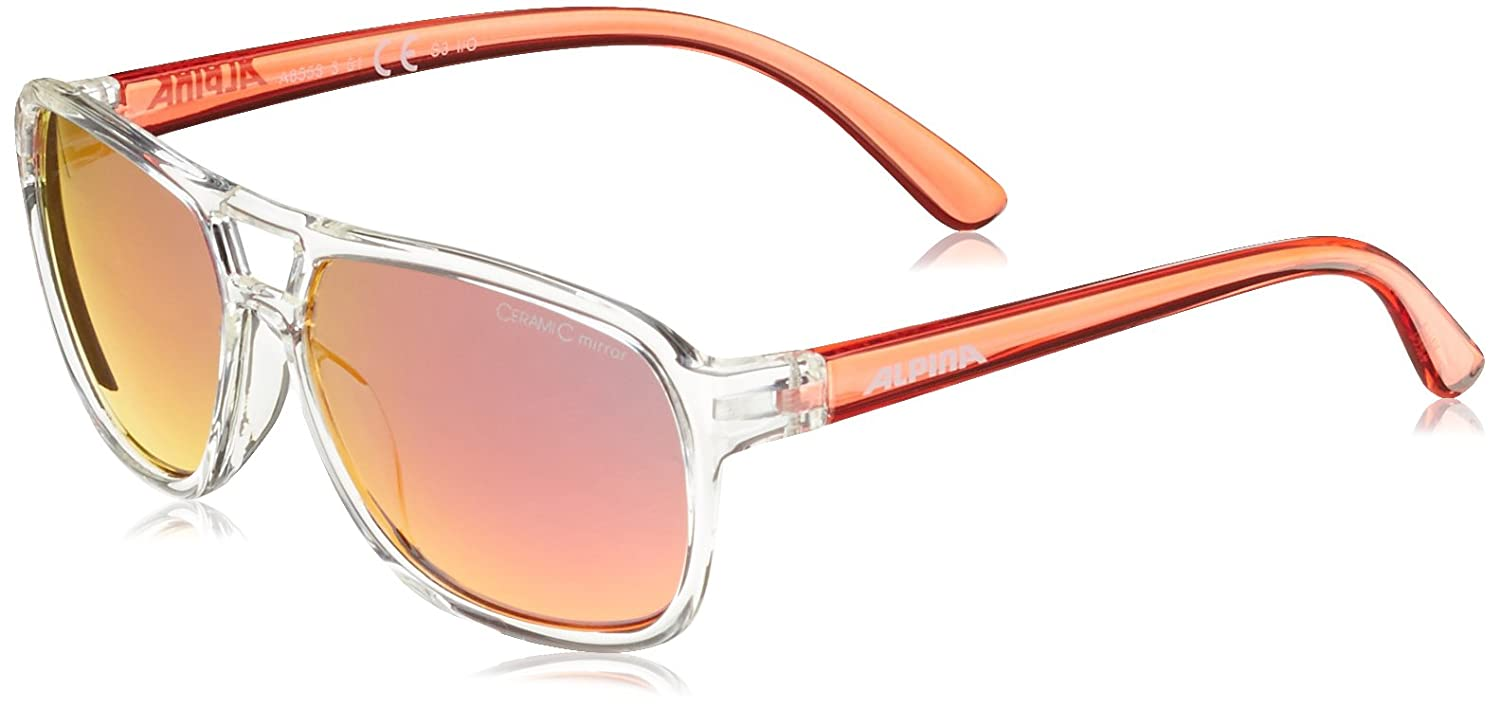 Alpina Kinder Sonnenbrille Yalla Outdoorsport-Brille, Clear-Red, One Size