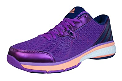 adidas Energy Boost Volley Women/'s Indoor Court Volleyball Trainers Purple New