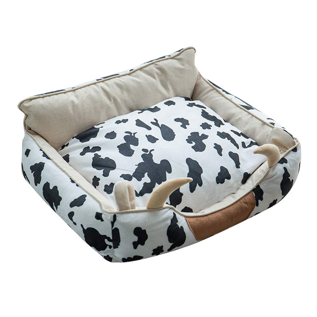 Dairy cow S Dairy cow S WANGXIAOLIN Dog Bed, Cat Bed, Pet Bed, Suitable for Small and Medium Dogs, Detachable and Washable, Universal for Four Seasons, (Three colors) (color   Dairy Cow, Size   S)