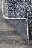 nuLOOM Reese Vintage Wool Rug, 5' x 8', Dark Blue