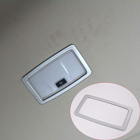 ABS cromo coche de plástico fila trasera techo lámpara de lectura marco de luz cubierta de