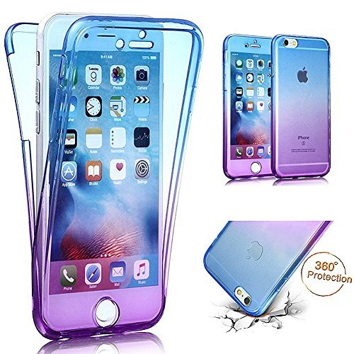 PHEZEN iPhone 6S Case, iPhone 6 Case, Scratch Proof 360 Front and Back Full Body Protection Flexible TPU Bumper Case Anti-Scratch Protective Case for iPhone 6/6S 4.7