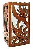 Hawaiian Scalloped Wood Candle Holder Bird of
