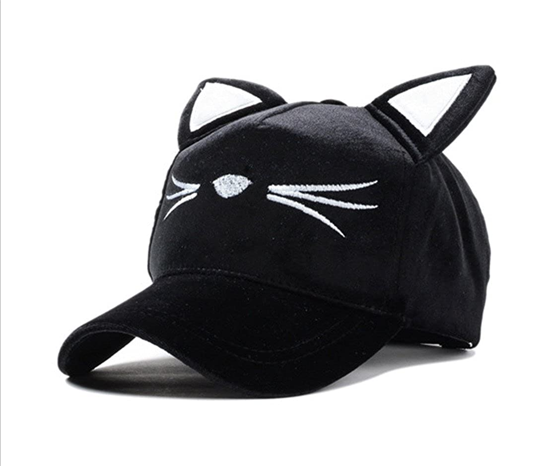 Amazon.com: GAMT Adjustable Cat Ears Cap Lovely Baseball Sun Hats Women: Clothing