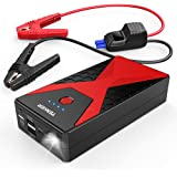 TENKER 1200A Portable Car Jump Starter Auto Battery Booster Pack with Dual USB Outputs, Type-C Port, and LED Flashlight