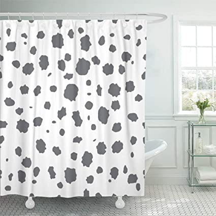 Shower Curtain 72x72 Inch Home Postcard Decor Abstract The Pattern With Spots And Blobs Dalmatian Skin