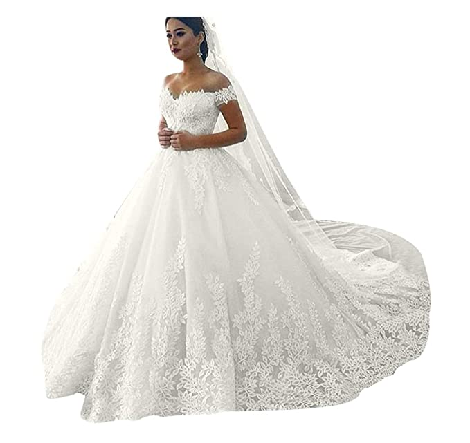 Amazon.com: ElenaDressy - Vestido de boda para novia 2019 ...